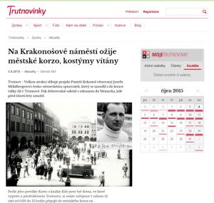 Na Krakonošově náměstí ožije městské korzo, kostýmy vítány
